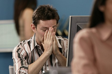 Stress lines: A new study found that work-related stress causes people to age prematurely