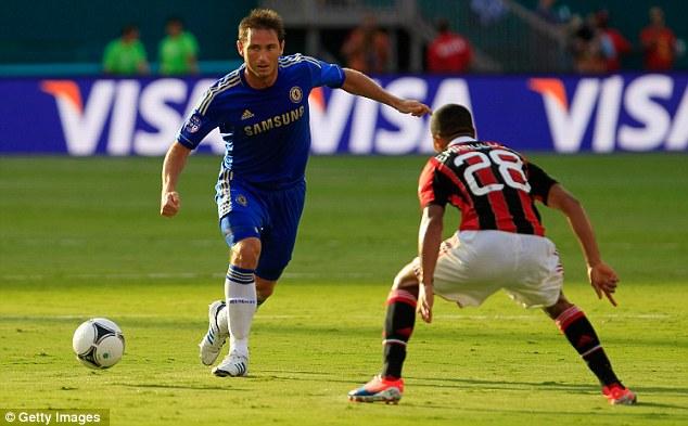Lampard brings the ball upfield