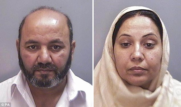 Honour killing: Iftikhar Ahmed, 52, and his wife Farzana, 49, of Warrington, Cheshire, suffocated their 17-year-old daughter Shafilea with a plastic bag because she refused an arranged marriage