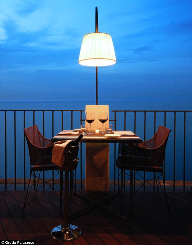 Tranquil: Diners can enjoy dinner while overlooking the still Adriatic sea