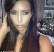 kim kardashian glossy hair