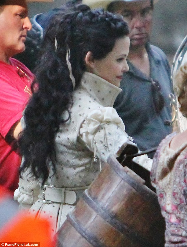 Ginnifer Goodwin Beams As She Slips Into Costume To Film