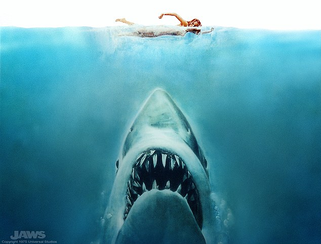 Inspired: The 1975 blockbuster Jaws taken from the book by Peter Benchley is said to have been inspired by the events that took place in New Jersey in 1916