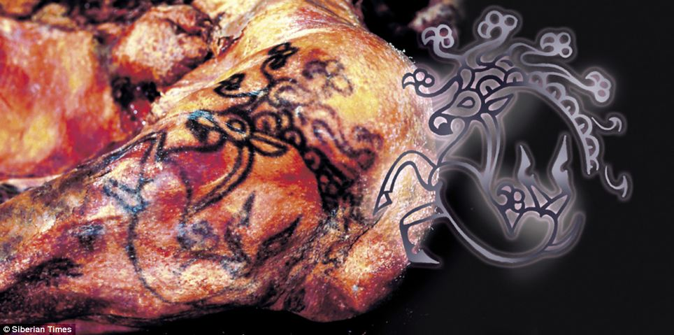 Researchers have revealed the stunning tattoo of a Russian princess, which have been preserved for 2,500 years