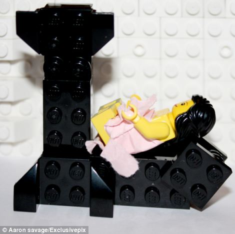 The lego figure was given a pretty pink dress to mimic Lilly Allen's Its Not Me It's You record