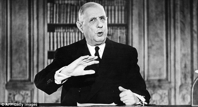 French president Charles de Gaulle vetoed Britain's first two applications to the EEC. Perhaps he knew us better than our own leaders did at the time