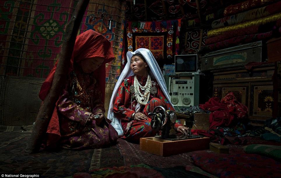 Sewing in Afghanistan