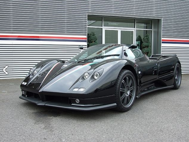 A Pagani Zonda, the type of supercar Mr Baranos was driving when he died (file photo)