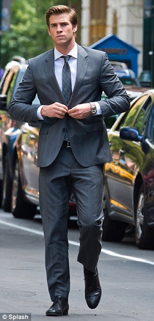 Liam Hemsworth Looks Extremely Dapper As He Films New