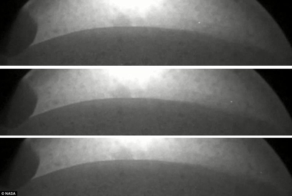 It may not look like much, but on the dry and barren Mars landscape, any movement is unexpected - so what is this light which apparently lifts itself off the ground?