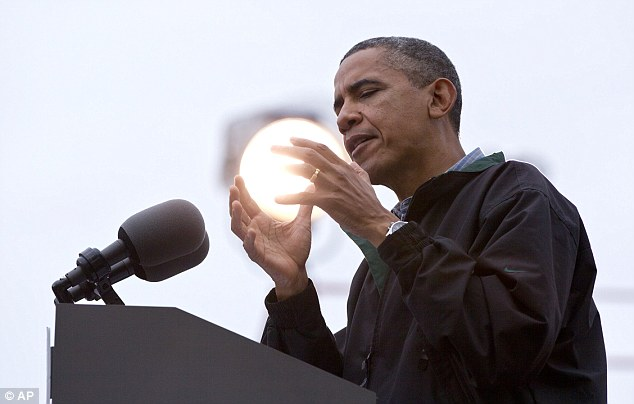Obama with the Sun in his hands