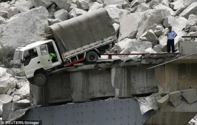 Casualties: Three people were killed and 12 others injured when the bridge collapsed
