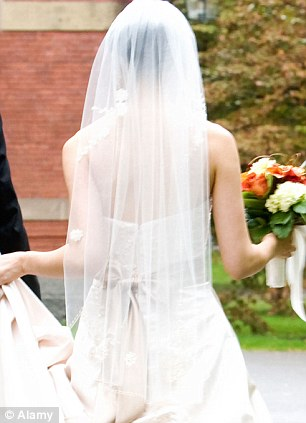 Bride: A bride dressed in her wedding gown has plunged to her death while posing for photographs on top of a Canada waterfall (file photo)