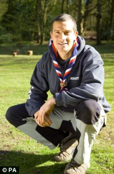 Role model: Critics say Bear Grylls should not use his position as leader of the scouting movement to push his own products