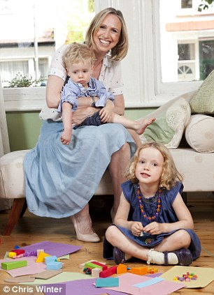 Quality time: Clare says she will make more of an effort to play with her children, whether it involves Peppa Pig or some pencils and paper