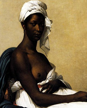 Out of context: The article reportedly praises Mrs Obama's popularity, but the painting, titled Portrait d'une négresse, was originally meant as a symbol of women's freedom after slavery was abolished in France in the late 18th century