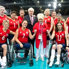 Wheelchair Volleyball Walmart Lounge Chair Crowd Cheer Brave 7 Survivor Martine Wright As She Competes For Boris Johnson And Barbara Windsor Were Among The At Excel Arena Today Who Cheered