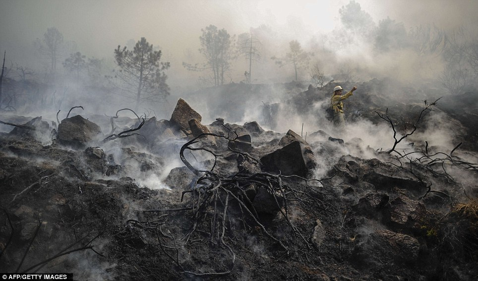 Spanish Wildfire Costa inferno Britons tell how paradise