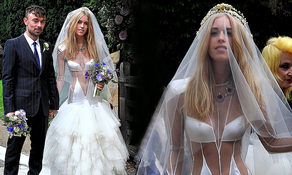 Lady Mary Charteris Weds In An Odd Cutaway Bridal Gown By