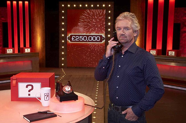 Host Noel Edmonds on Deal or No Deal, where contestants can win up to £250,000