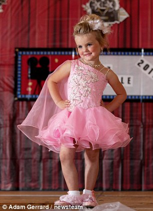 Dyamond Donovan, 4, poses at the Glitz Sparkle 2012 competition