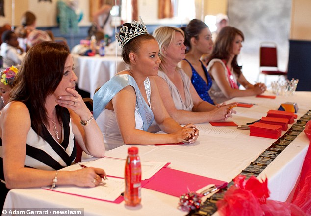 The panel of judges at the Glitz Sparkle 2012 competition - one of the first American style beauty pageants to be held in the UK