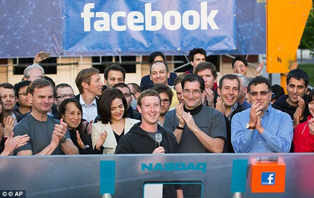 Heady Days: On May 18th Mark Zuckerberg launched his firm's I.P.O which valued it at $104bn. Within three months more than $50 billion has been lost from its value