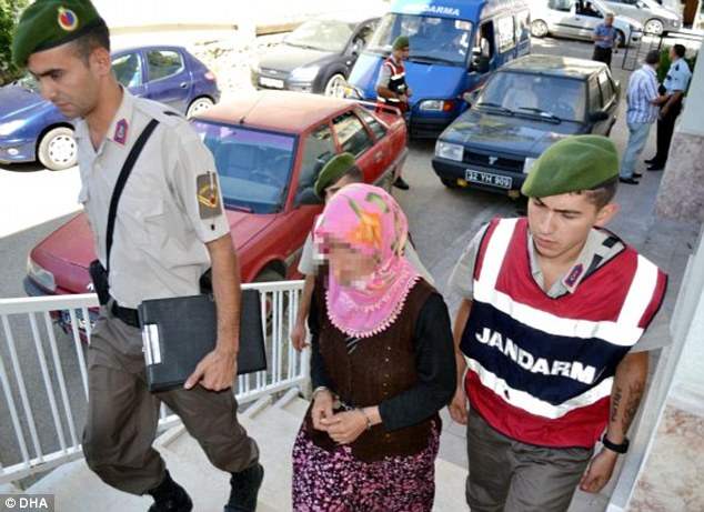 In custody: Yildirim is led into court for a preliminary hearing earlier this week