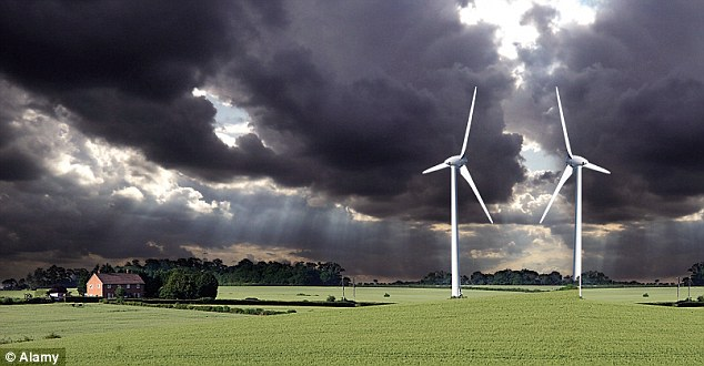 A wind turbine in Bedfordshire; while some people have welcomed the wind farms, others say they have a detrimental effect on their health