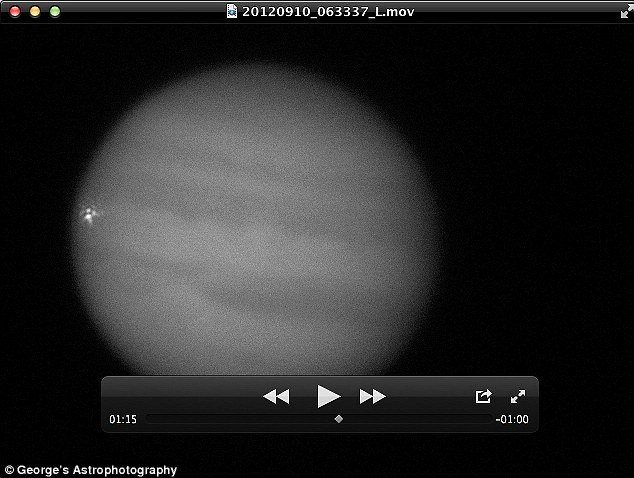 What a moment: Jupiter was struck by an asteroid yesterday, as confirmed by this image and a separate eye-witness