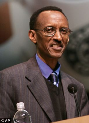Supports controversial leader: Mr Blair has been a long-time supporter of Rwandan leader Paul Kagame