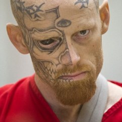 Tattooing Chairs For Sale Folding Chair Vancouver Jason Barnum Arrested: Terrifying Criminal With A Tattooed Eyeball Arrested 'shooting At ...