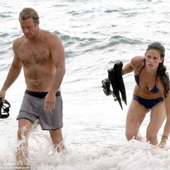 Academy Beach Chairs Eames Molded Wood Side Chair Replica It's A Hard Life! Scott Caan Frolics With Bikini Babe As He Films Hawaii Five-o   Daily Mail Online