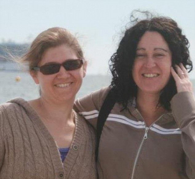 Victim: Fiona Bone, left, with partner Clare Curran. The couple were planning their civil partnership ceremony