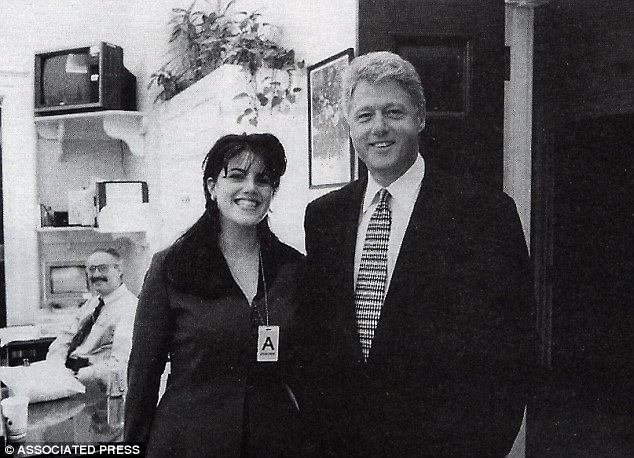 Affair: Lewinsky, pictured in November 1995, claimed she had nine sexual encounters with President Clinton in the Oval Office between November 1995 and March 1997