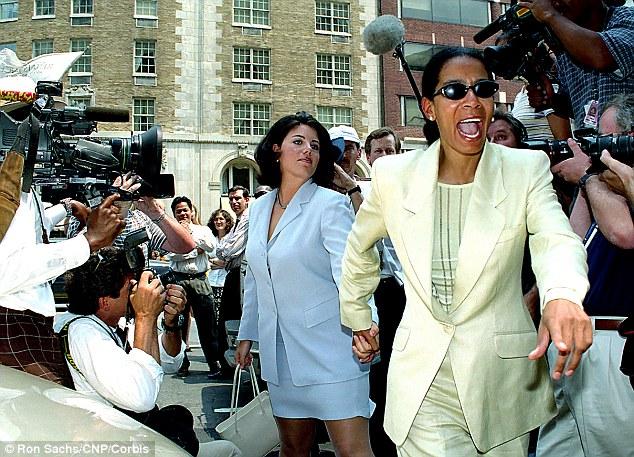 Aftermath: In July 1998, Monica Lewinsky follows her lawyer Judy Smith through a media swarm