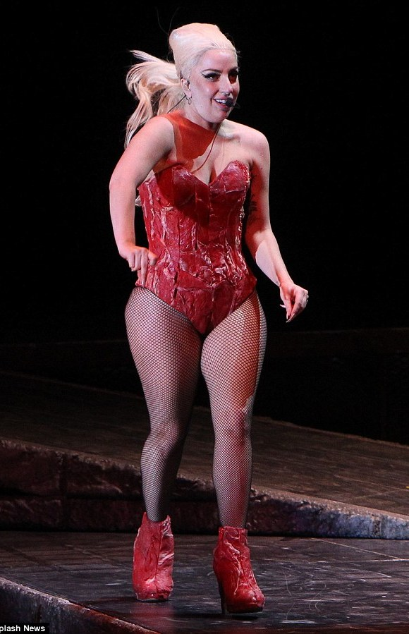 A bit meaty: Lady Gaga seems to have gained weight recently