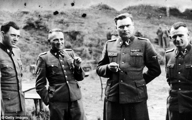 War crimes: The likes of Josef Mengele (left) known as 'The Angel of Death', Rudolf Hess and Josef Kramer were well known war criminals but hidden microphones reveal how Wehrmacht soldiers were embroiled in the atrocities