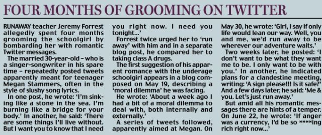 Four months of grooming on Twitter