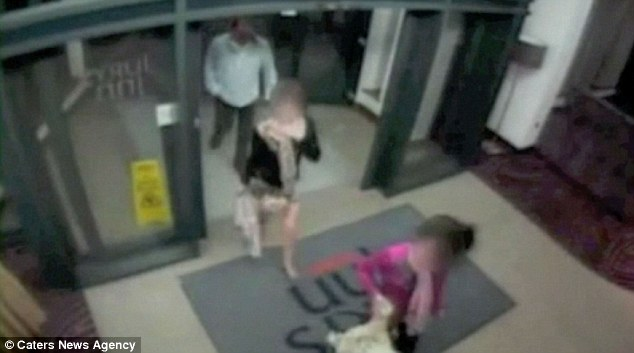 John Shaw, caught on CCTV with two girls at a hotel
