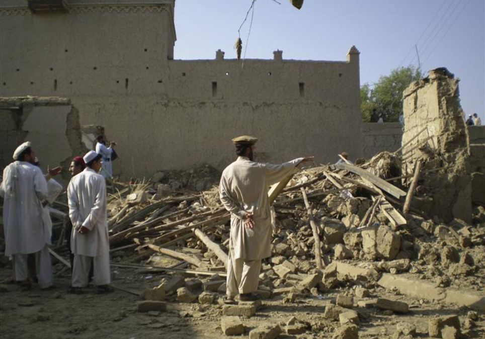 The site of a missile attack in Tappi, a village 12 miles east of Miranshah, near the Afghan border after a U.S. missile attack by a pilotless drone aircraft in 2008. At least six people were killed