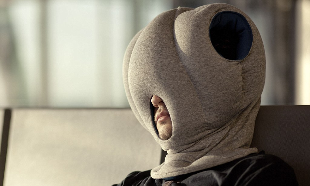 Ostrich Pillow Bizarre invention means people can nap