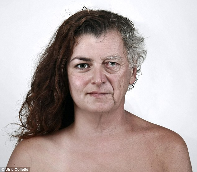 Daddy's girl: Daniel, 60, and daughter Amelie, 33, produced this striking image when their faces were blended together