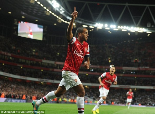 Desires: Theo Walcott wants to play in the middle