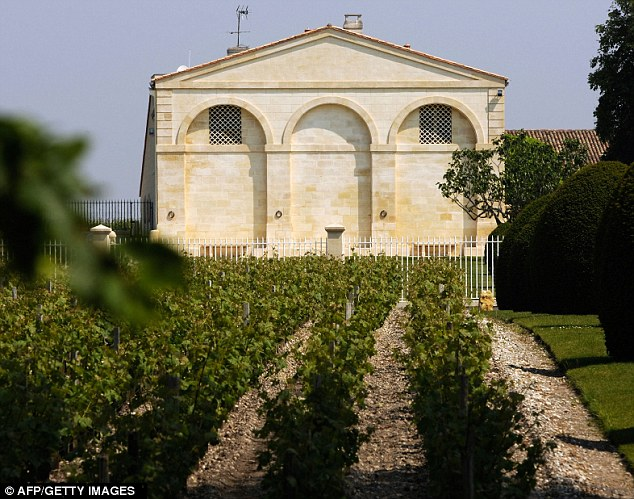 The Chateau Mouton Rothschild and its wineyard, classified 'premier cru classe' (first growth), in Pauillac near Bordeaux