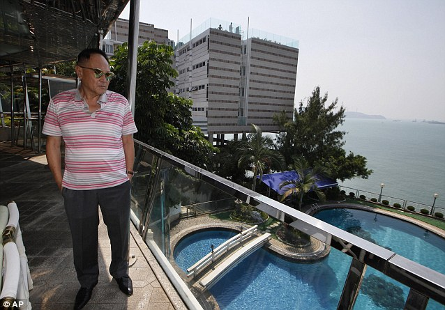 In denial: Hong Kong billionaire Mr Chao, who claims to have slept with 10,000 women, has refused to accept that his daughter is gay