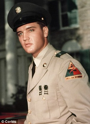 Rare: Elvis wrote the poignant letter in 1958 - while he was on national service in Germany