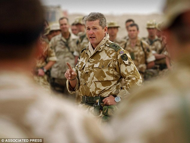 Outspoken: Former commander Lt Colonel Tim Collins, pictured in Iraq, described the cuts as 'crippling'