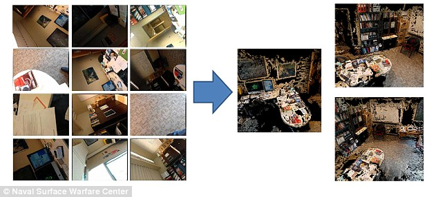 Surreptitious: The phone camera can take pictures and then 'piece' a room back together as a 3D model