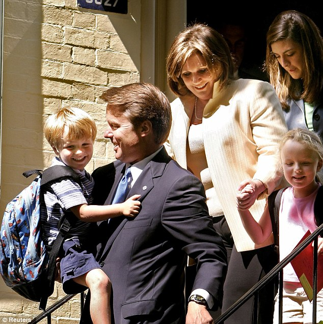The way we were: John Edwards seen with his late wife Elizabeth and their children in Washington in 2004